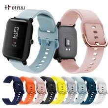 Yayu 20mm silicone pulseira de relógio para huami amazfit gts gtr 42mm pulseira para huami amazfit bip u bip s gts 2 pulseiras de relógio