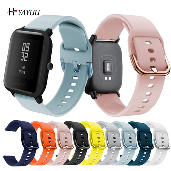 YAYUU Silicone Wrist Band for Huami Amazfit GTS GTR 42mm Bracelet 20mm Strap for Huami Amazfit Bip BIT Youth Wearable Watch Band