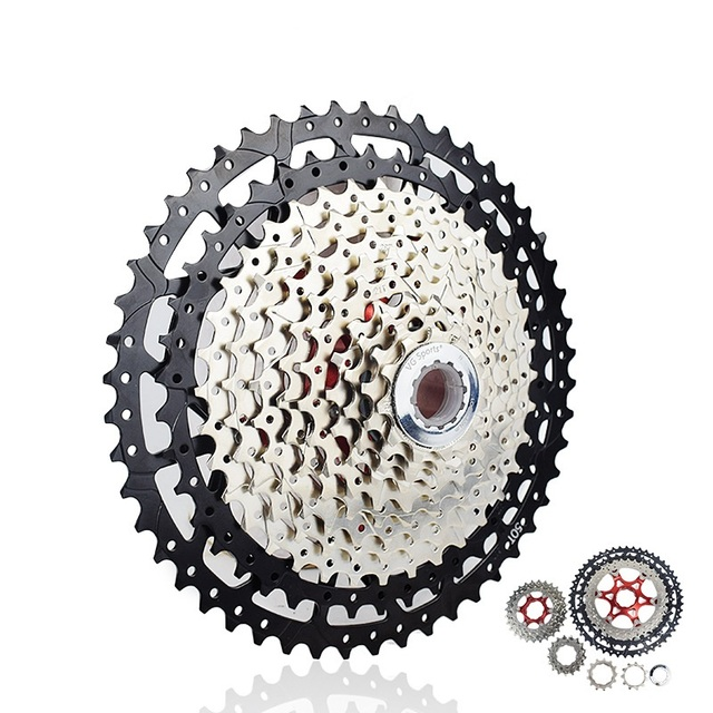 10 11 12 Speed Cassette 11 40T 42T 46T 50Tกว้างRatio Freewheel Mountain Bike MTBจักรยานCassetteสำหรับShimano Sram