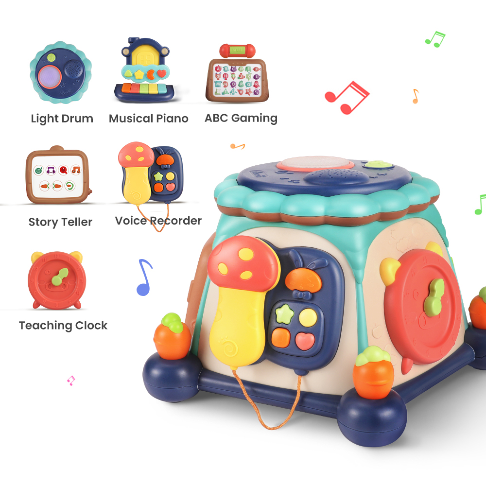 Tumama Multifunctional Musical Toys Baby Hard Drum Box Music Learning Machine Early Educational Toys Jouets Pour