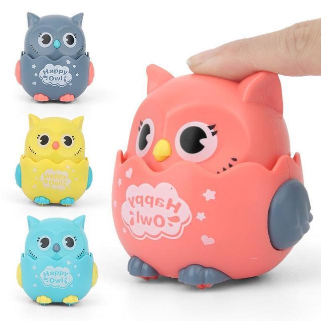 Happy Owl Wind Up Kitten Squeaky Toy  1