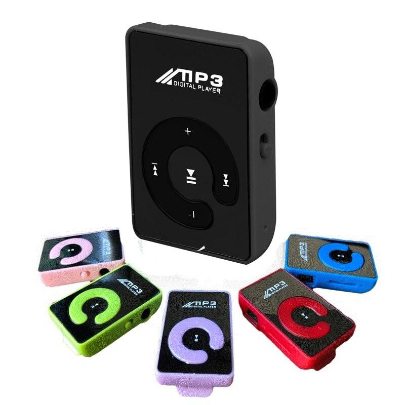 Mini espejo Clip USB Mp3 reproductor de música estudiante deportes Running música Walkman Ultra delgado TF tarjeta altavoz función MP3 reproductor