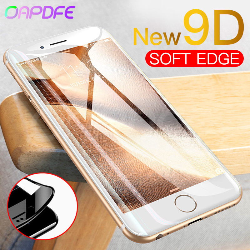 9D Protective Glass For IPhone 6 6S 7 8 Plus X Tempered Glass On IPhone 7 6 8 XR XS MAX Screen Protector For IPhone 7 6 XR Film