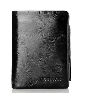Vintage Men Wallet Genuine Lea