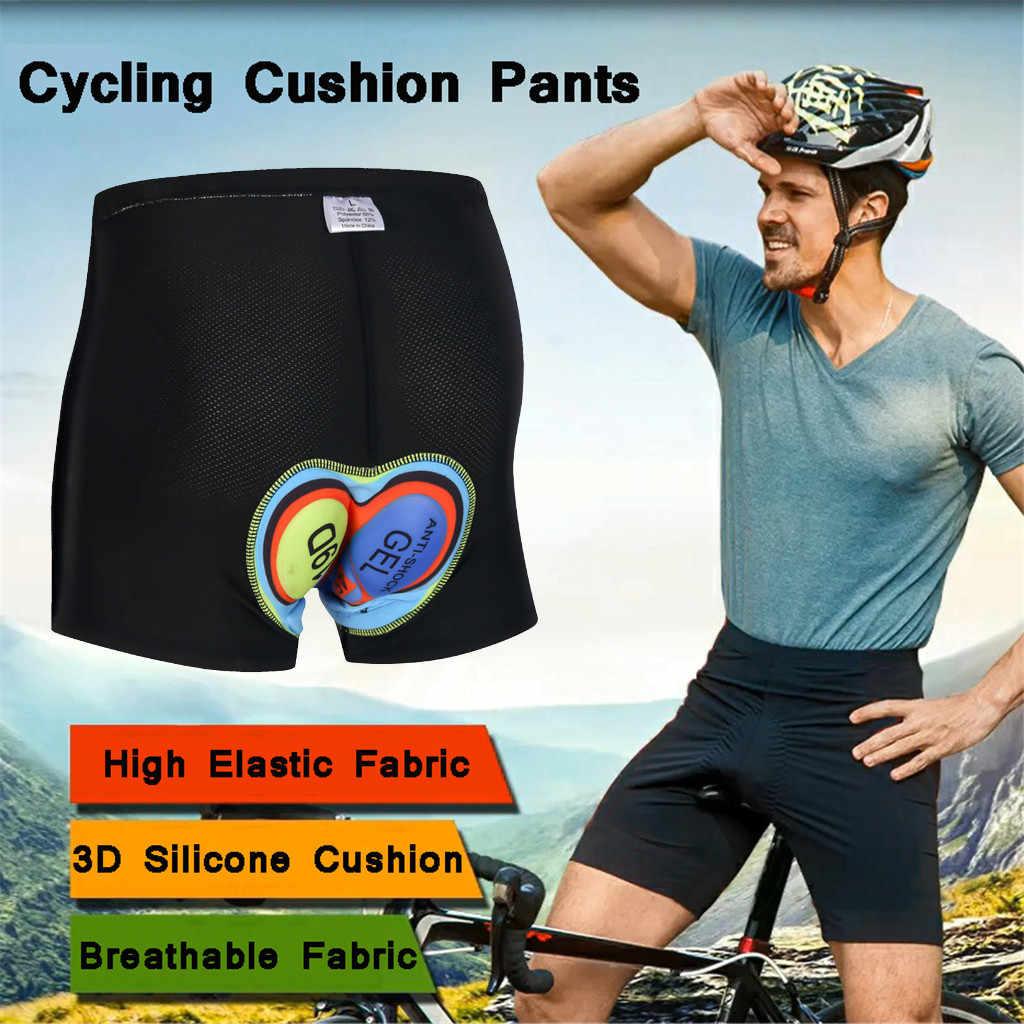 Mens Cycling Shorts Bicycle Road Bike 3D Gel Pad Mountain Biking Pants Underwear