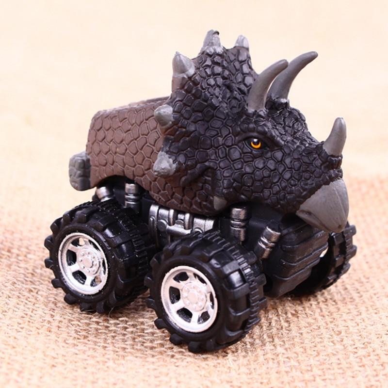 Makinë për fëmijë tërheq lodër makine dinosauri me rrota të - Makina lodër për fëmije - Foto 4