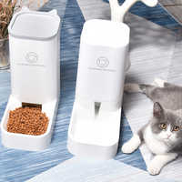 Automatic Pet Dog Cat Feeder Bowl Water Feeder Puppy Eating Drinking Dispenser Kitty Food Container Pet Supply Drop Shipping