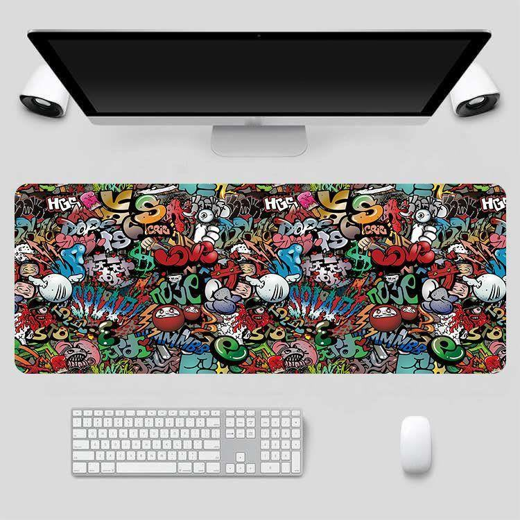 Mouse Pad Large Gaming 80x30cm XXL Lock Edge Computer Gamer Keyboard Mouse Mat Hyper Beast Desk Mousepad for PC Desk Pad