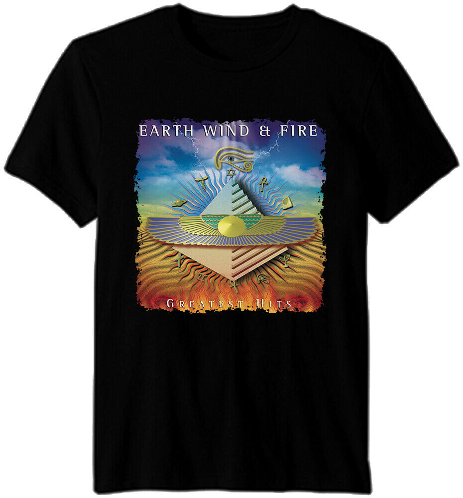 Earth, Wind & Fire - R&B soul funk jazz disco pop Band Album T shirt image