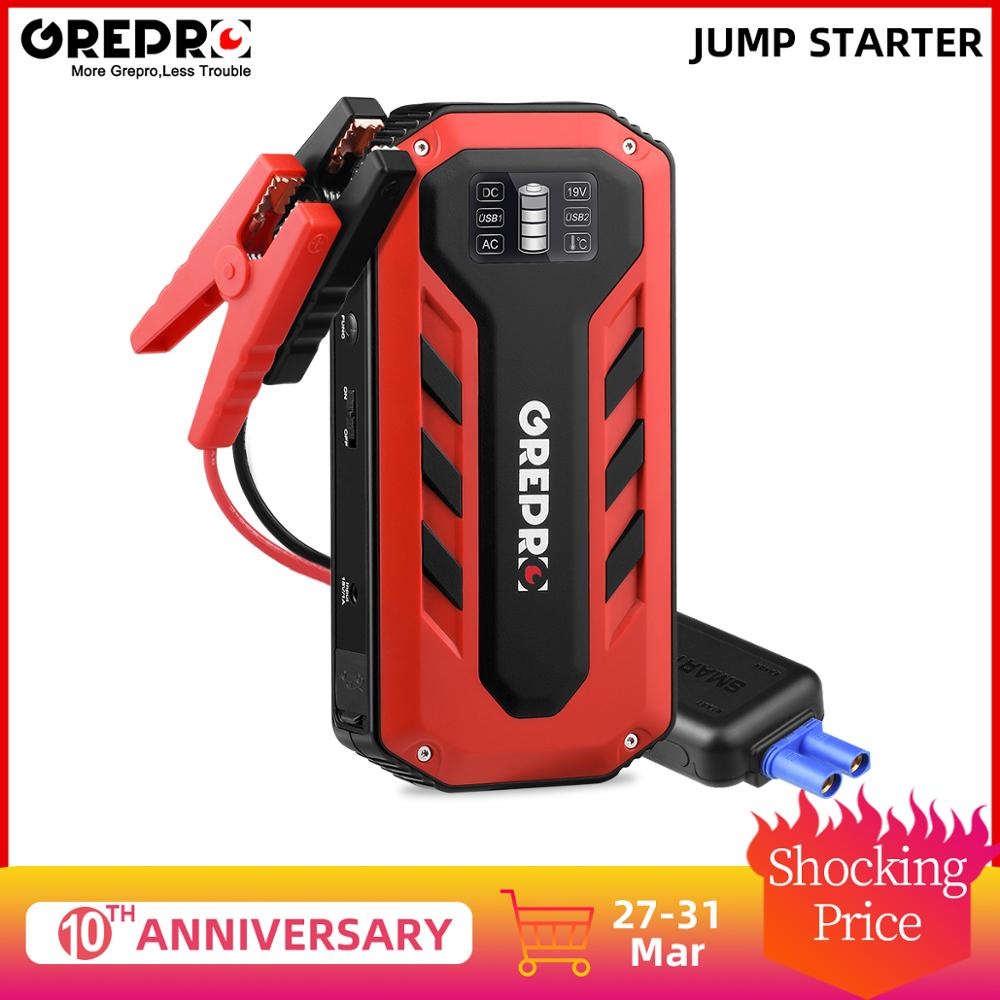 Car Jump Starter 1000A Car Buster 12V Vehicle Emergency Battery Auto Booster Battery Car Starter Power Bank Powerful LED Light
