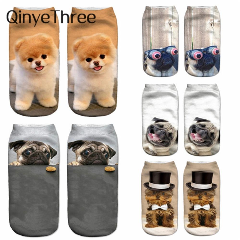 New 3D Printed Socks Women New Unisex Cute Low Cut Ankle Socks Multiple Colors Women Sock Women's Casual Animal Shape Socks