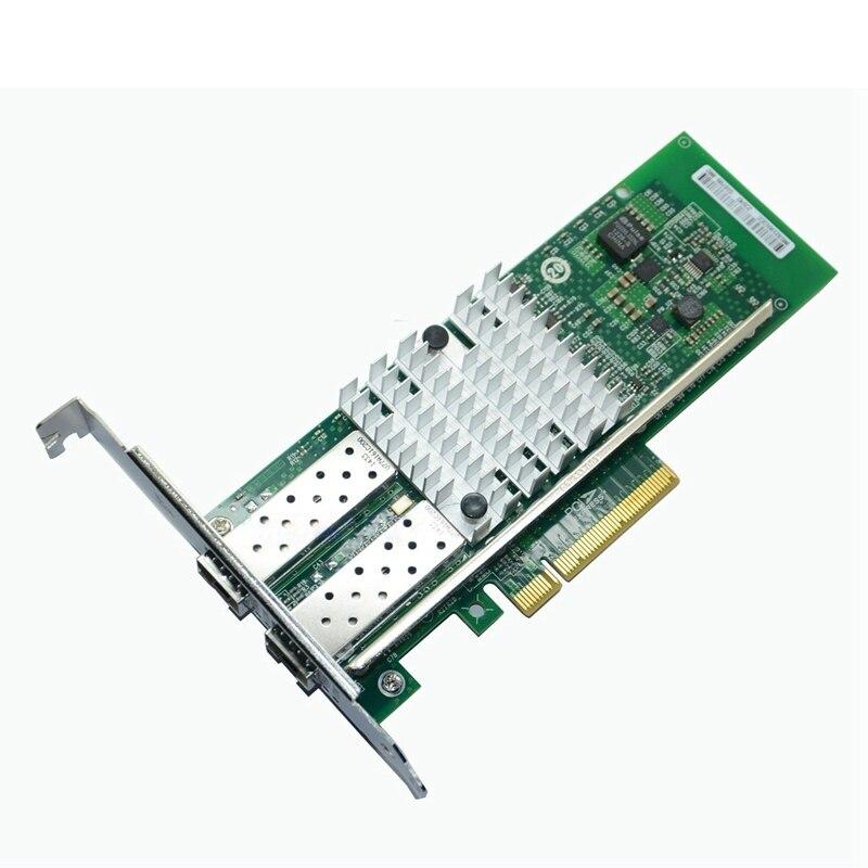 Intel82599Es набор микросхем 10 Гбит/с двухпортовый Pci-E Ethernet серверный адаптер волоконно-оптический Nic совместимый E10G41Btda X520-Da2 82599