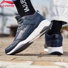 Li-Ning/мужская спортивная обувь с теплой флисовой дышащей подкладкой; классические кроссовки; AGCN123 YXB234