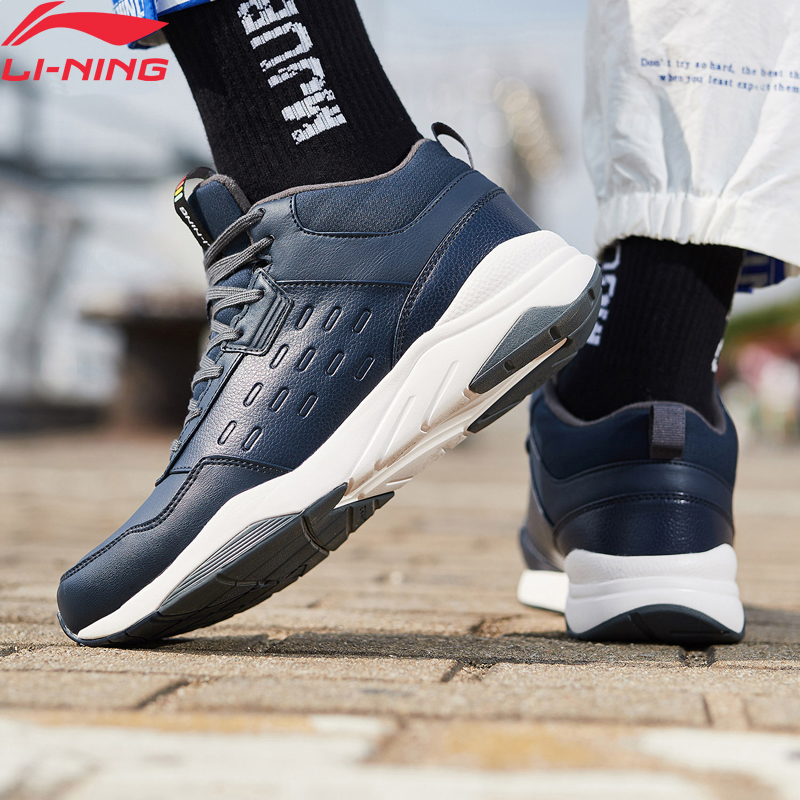 (Break Code)Li-Ning <font><b>Men</b></font> LN DEFENDER Lifestyle <font><b>Shoes</b></font> Warm Fleece Wearable <font><b>LiNing</b></font> li ning Sport <font><b>Shoes</b></font> Sneakers AGCN123 YXB234 image