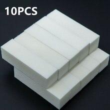 10 pçs branco prego arte buffer blocos lixa polimento esponja unha arquivos dedo do pé polimento moagem manicure ferramentas