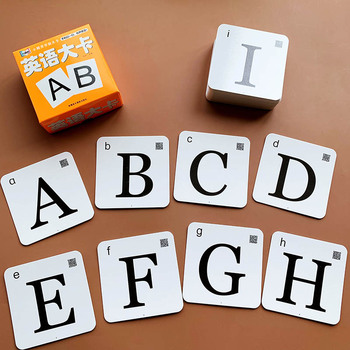 44Pcs Montessori Learn English Black And White Card Alphabet Card Educational Game Flash Card Toy for ChildrenToys Free shipping cuesoul 12 black and white engraved soccer foosballs free shipping one dozen