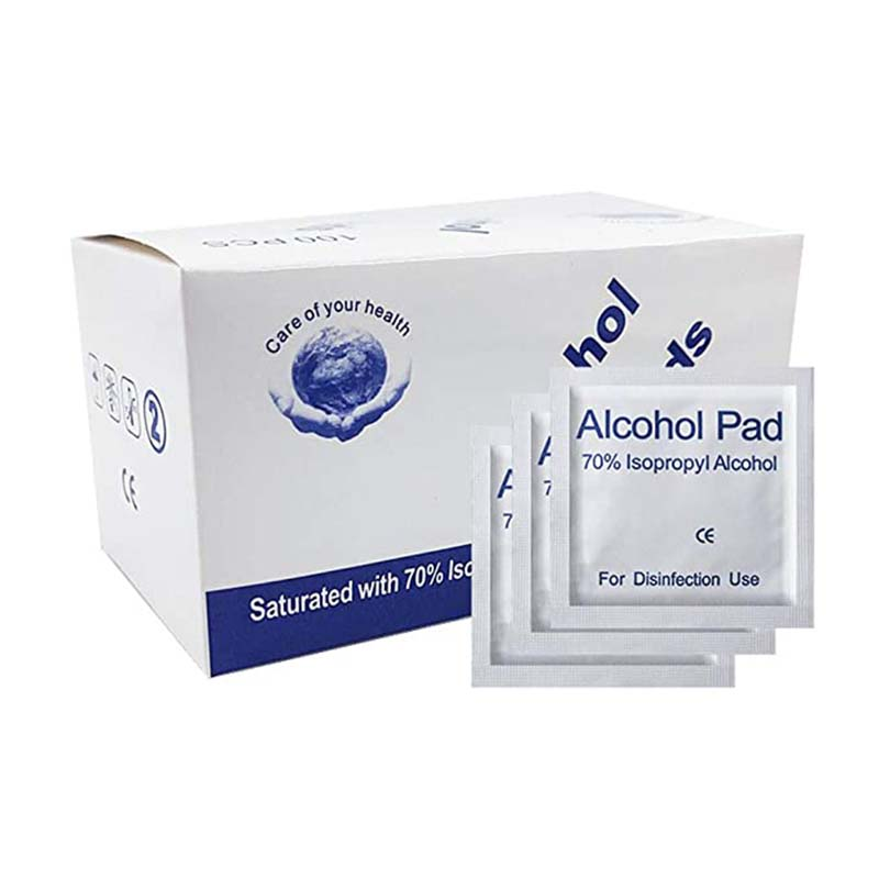 100pcs/1bag Disposable Alcohol Disinfection Cotton Wipe Alcohol Tablet Disinfection Paper Hand Wipes Skin Toys Cleaning