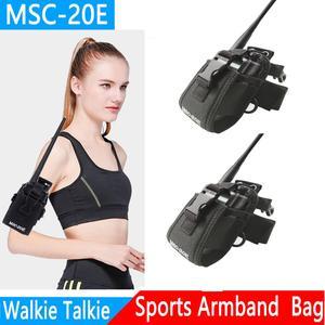 Image 2 - 2 pçs abbree MSC 20E portátil walkie talkie náilon caso capa handsfree titular para baofeng UV XR UV 9R tyt woxun motorola rádio