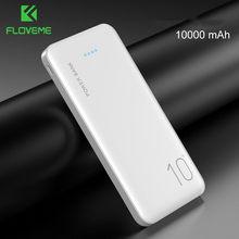 Floveme power bank 10000 mah carregador portátil para samsung xiaomi mi bateria externa móvel powerbank 10000 mah poverbank telefone