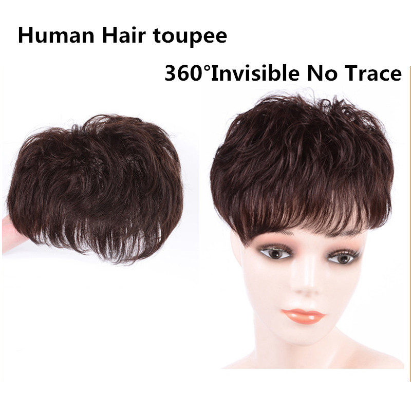 Brazilian Remy Human Hair Topper With Bangs Hand-made Human Hair Woman Toupee Suppliers Pieces Wave Toupee Women Hair Toupees