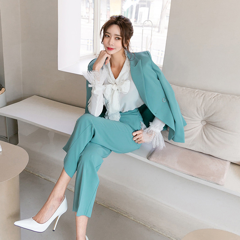 High-End Business Suit Women's OL Elegant Goddess-Style Work Clothes Autumn Clothing 2019 New Style Korean-style Suit Two-Piece