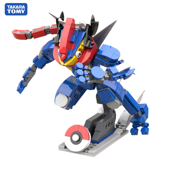 302PCS+ POKEMON Greninja Blocks Small Building Block Size DIY Construction Building Toys for Children Kids Gifts 1