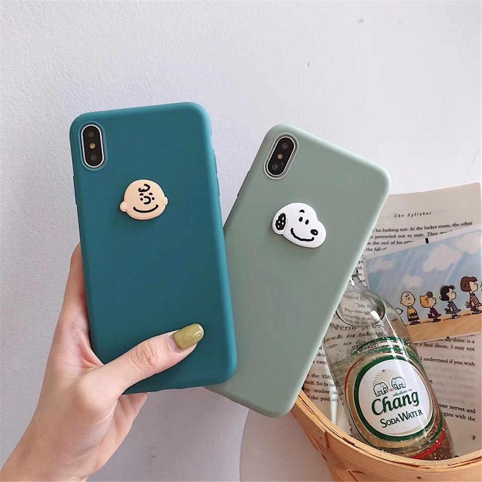Dtleaf Charlie Brown Cartoon Case Voor Iphone 11 11pro Xs Max Zachte Snoep Siliconen Case Voor Iphone Xs Xr X 6 6 S 7 8 Plus Case
