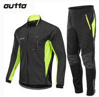Winter Warm Fleece Riding Jacket And Pant Windproof Thermal Outdoor Sportswear Waterproof Man Racing Bicycle Cycling Sets