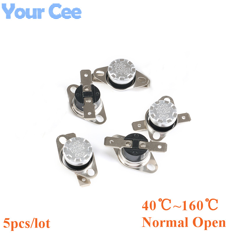 KSD301 Normal Open 5 pcs Temperature Switch Thermostat 50°C N.O