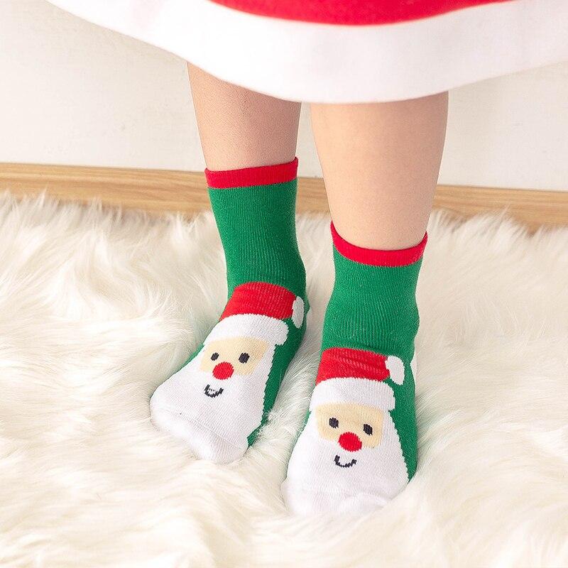 1 пара, рождественские подарки для детей, рождественские носки 25*8 см женские носки новогодние подарки, чулки рождественские подарки, год - Цвет: Розово-красный