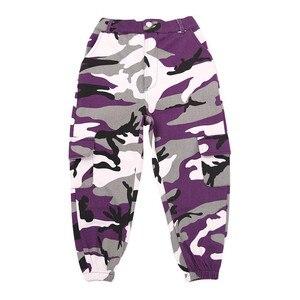 Image 4 - Wina dziecko Hip Hop odzież spodnie kamuflażowe do biegania dla dziewczyn taniec jazzowy nosić kostium tańca towarzyskiego ubrania sceniczne stroje garnitur