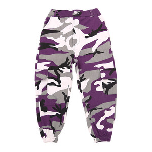 Image 4 - Wine Kid Hip Hop Clothing Camouflage Jogger Pants for Girls Jazz Dance wear Costume Ballroom Dancing Clothes Stage Outfits Suit