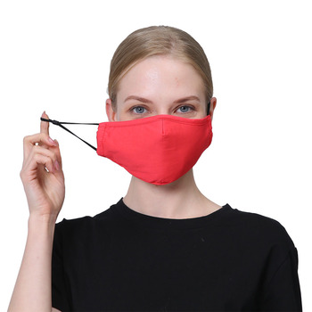 1/2pcs/lot Solid Color PM2.5 Dust Adult Mask with Activated Carbon Filters Fog Haze Cotton Masks Breathable Winter Outdoor Masks