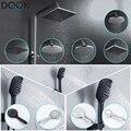 Rainfall Shower Head Bathroom 3 Modes ABS round Chrome Water-Saving Nozzle G1/2 Bath Shower Adjustable Black Shower