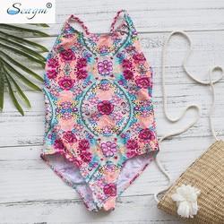 От 3 до 16 лет, детский купальный костюм для девочек, новый брендовый летний купальник для девочек, детские цельные купальные костюмы, пляжная... 4