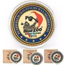 Beard-Wax Eucalyptus Gift Orange Facial Bluezoo Sandalwood for 4-Flavor 60G Sweet Men's