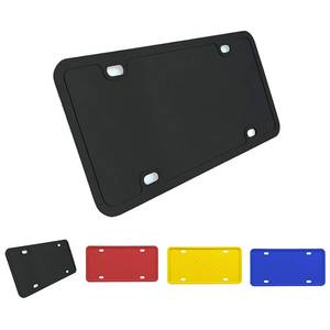 License-Plate-Holder Universal Auto-Rustproof-Weather-Proof American Black Silicone