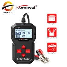 KONNWEI KW210 automatyczne smart 12V Tester akumulatora samochodowego dla akumulatorów samochodowych analizator 100 do 2000CCA rozruchu akumulatora samochodowego Tester