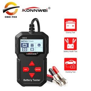 Image 1 - KONNWEI – KW210 testeur intelligent automatique de batterie de voiture, analyseur automatique de batterie de voiture, 100 à 2000CCA
