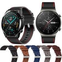 22Mm Echt Lederen Horloge Band Voor Huawei Gt 2 Pro Correa Reloj Inteligente Vervangingen Honor Magic 1 2 46mm Horloge Heren Riem