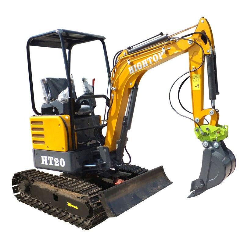 Mini Excavator Micro Digger Hydraulic 1.8 Ton 2 Ton Crawler Excavator For Sale