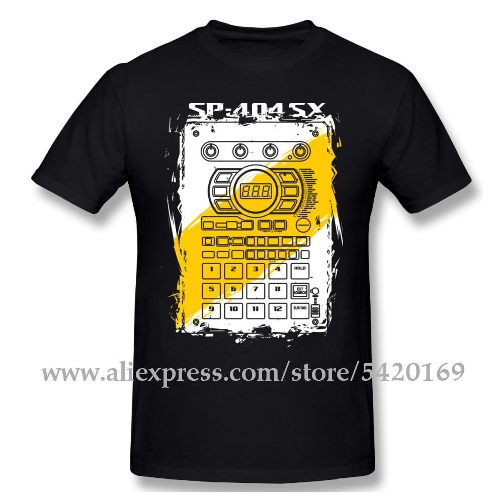 Roland SP-404 SX Tee Shirt Men's Fashion Electronic Musical Instruments T Shirt Pure Cotton Classic Crewneck T-shirt