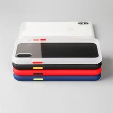 B06 silikonowe etui do iphone X/XS miękkie pokrywy ochronne