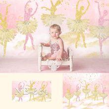 خلفية تصوير Avezano ، وردي ، ذهبي ، ترتر ، باليه ، أميرة ، حديث الولادة ، فتاة ، لافتة ، ديكور استوديو صور