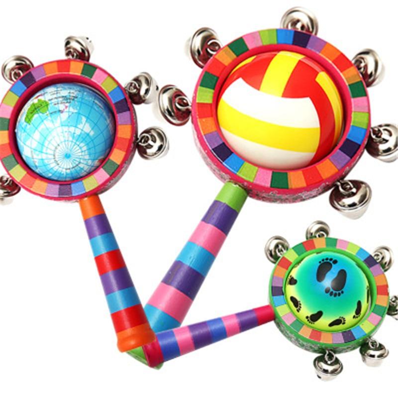 Handbell Montessori Educational Wooden Toy 3D Puzzle  Sensory Mathematics Jigsaw Brain Training Early Intellectual Learning Toy