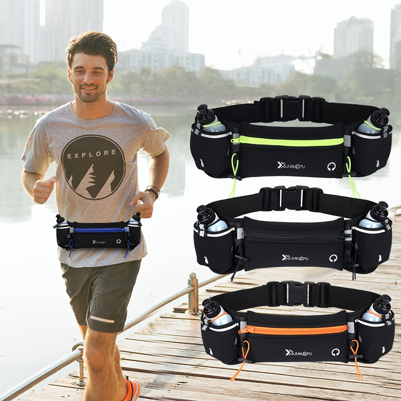 Running Waist Bag Marathon Running Bag Men Women Outdoor Riding Fitness With Water Bottle Waterproof Phone Sport Belt Waist Bags