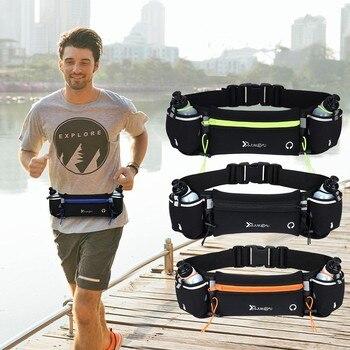 Сумка для бега на талии, сумка для марафона, для бега, для мужчин и женщин, для активного отдыха, для фитнеса, с бутылкой для воды, водонепрони...