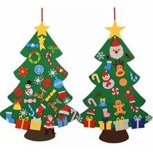 Kids Craft Toy Christmas-Tree-Decorations Gifts Felt DIY New-Year Door Xmas-Tree Wall-Hanging-Ornaments