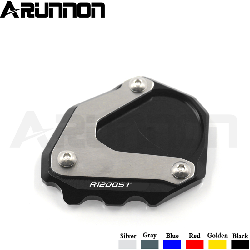 For BMW <font><b>R1200ST</b></font> R1200 ST R 1200ST 2003-2007 Motorcycle CNC Kickstand Foot Side Stand Extension Pad Support Plate Enlarge Stand image