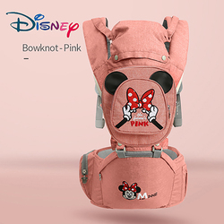 Disney Ergonomic Baby Carrier Infant Baby Hipseat Carrier Front Facing Ergonomic Kangaroo Baby Wrap Sling for Baby Travel 0-48